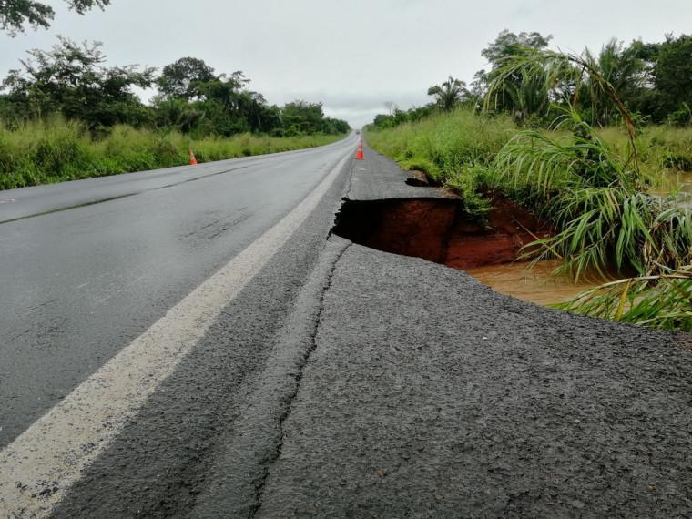 Erosão provocada pela chuva