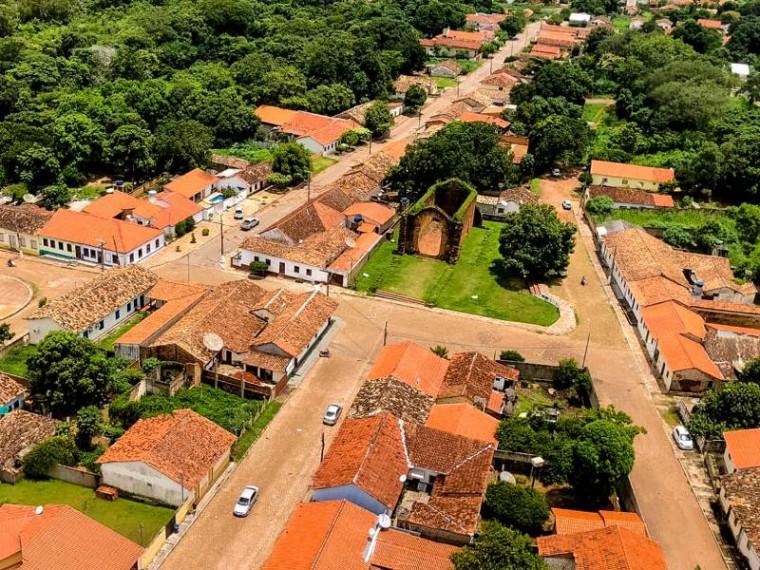 Vista aérea do centro histórico de Natividade