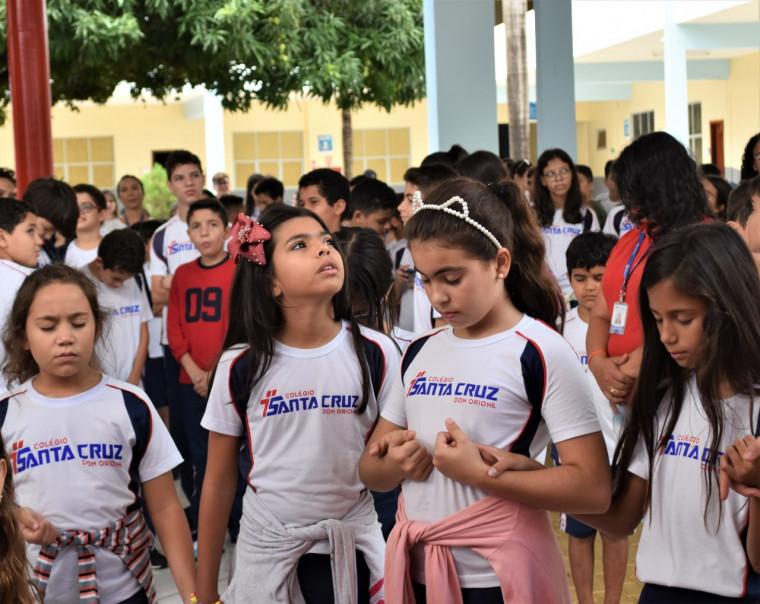 Comemoração do centenário no Colégio Santa Cruz