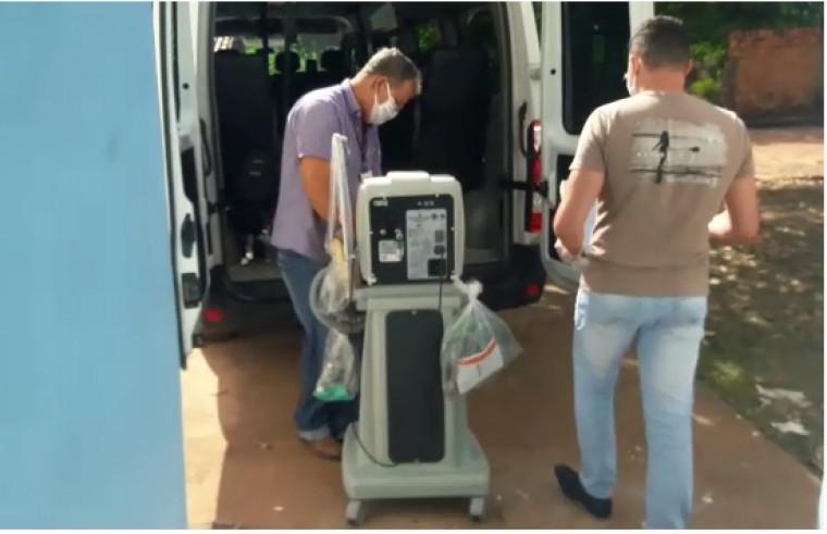 Transporte do respirador foi feito até o Hospital Regional de Araguaína (HRA)