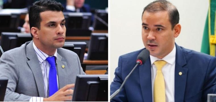 Irajá Abreu (esq.) e Vicentinho Júnior
