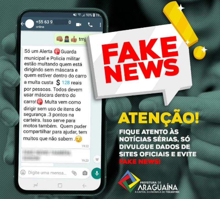 Mensagem falsa circula nas redes sociais
