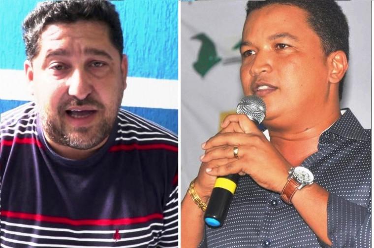 Damião Castro [atual prefeito] e Auri [ex-prefeito]