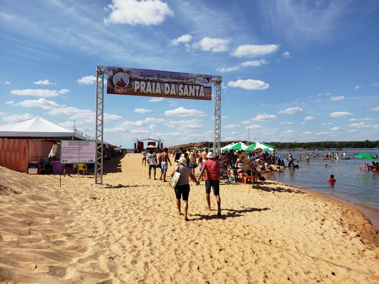 Praia da Santa é um dos destinos mais procurados no norte do Estado