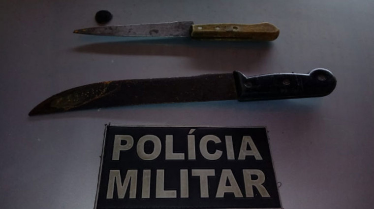 PM apreendeu a faca usada no crime