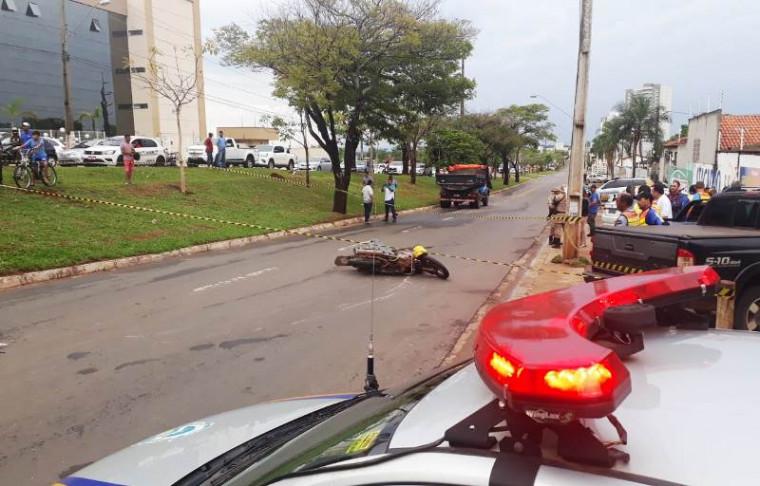O acidente ocorreu em frente ao Fórum