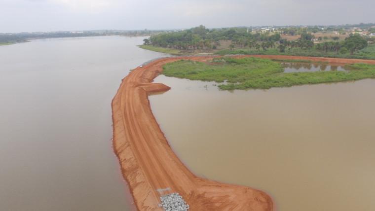 Aterramento do lago executado sem licença do Naturatins