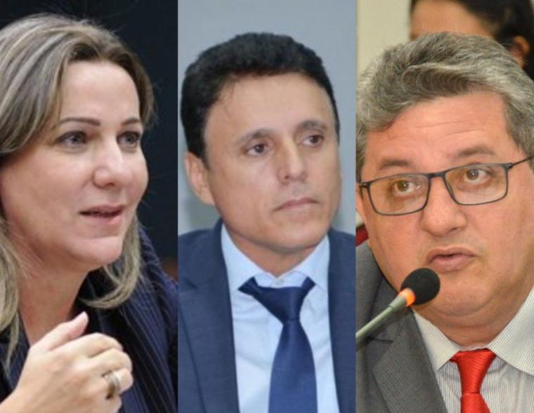 Dulce Miranda, Nilton Franco e Jair Farias, todos do MDB