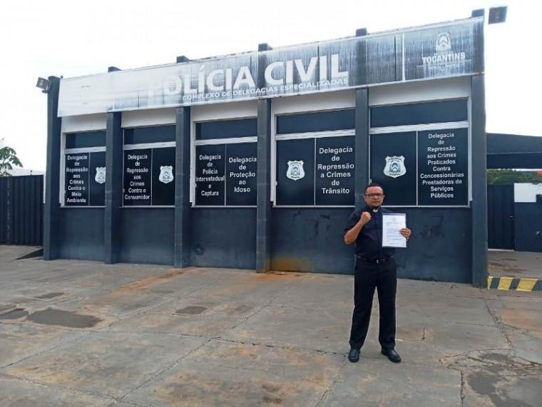 Documento foi protocolado na Polícia Civil nesta terça-feira (3)