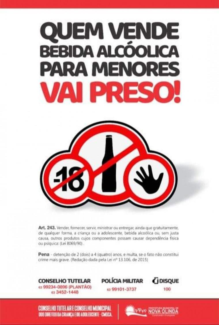 Cartaz da Campanha em Nova Olinda