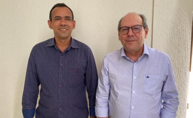 Hélio do São Lucas e Ronaldo Dimas, presidente do Podemos