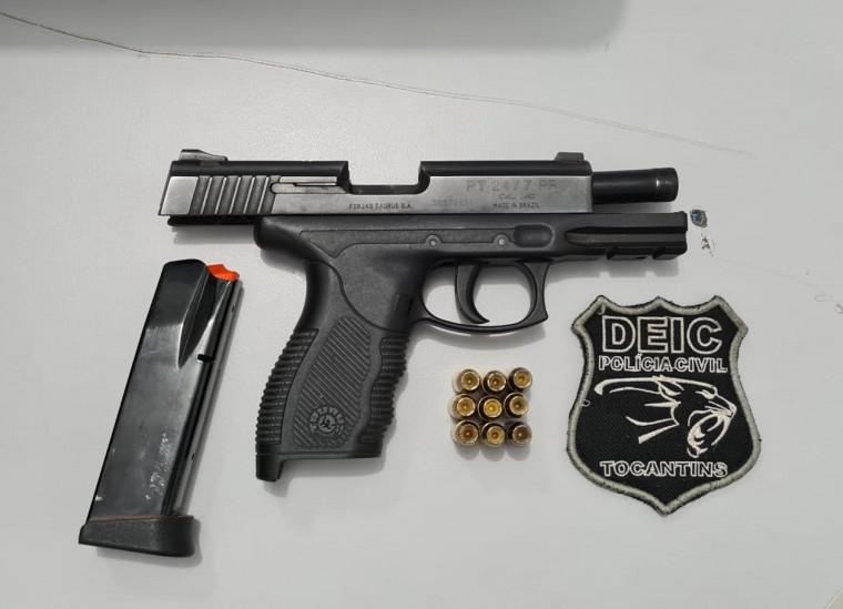 Arma que estava em poder dos criminosos