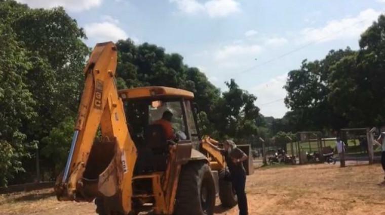 Máquina usada no campo