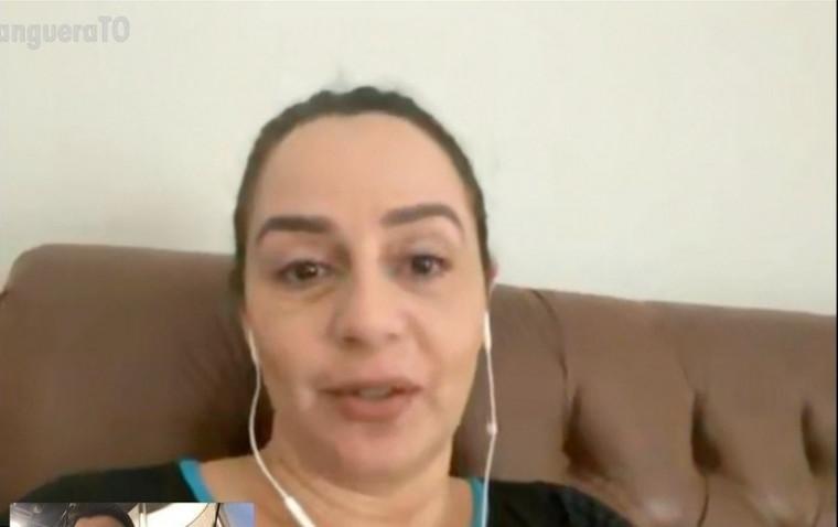 Advogada Kellen Pedreira, 44 anos, foi a paciente nº 1 no Tocantins