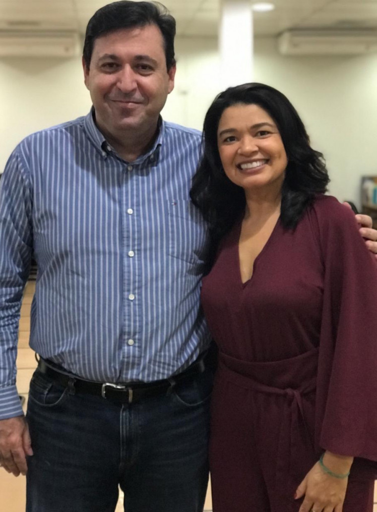 Eva Pereira com o Presidente da Energisa Tocantins, Márcio Zidan
