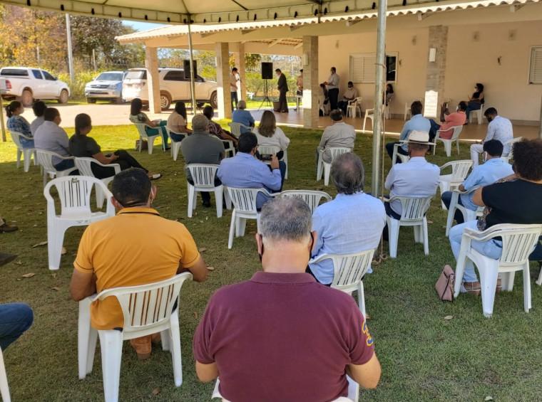 Reunião do MDB em Palmas, nessa segunda-feira (3).