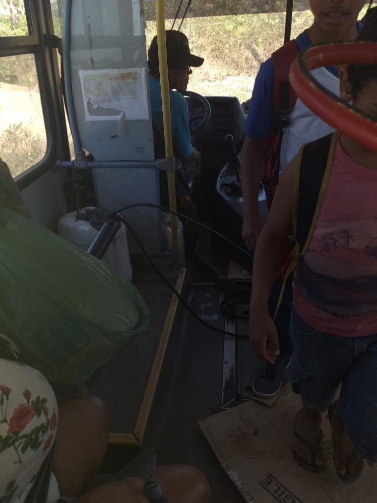 Risco no transporte do estudantes
