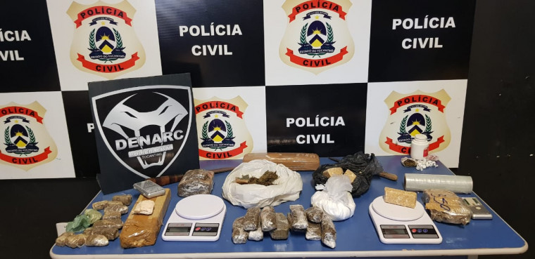 Drogas apreendidas durante a operação