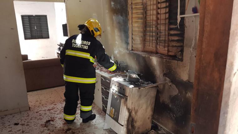 Cozinha foi incendiada
