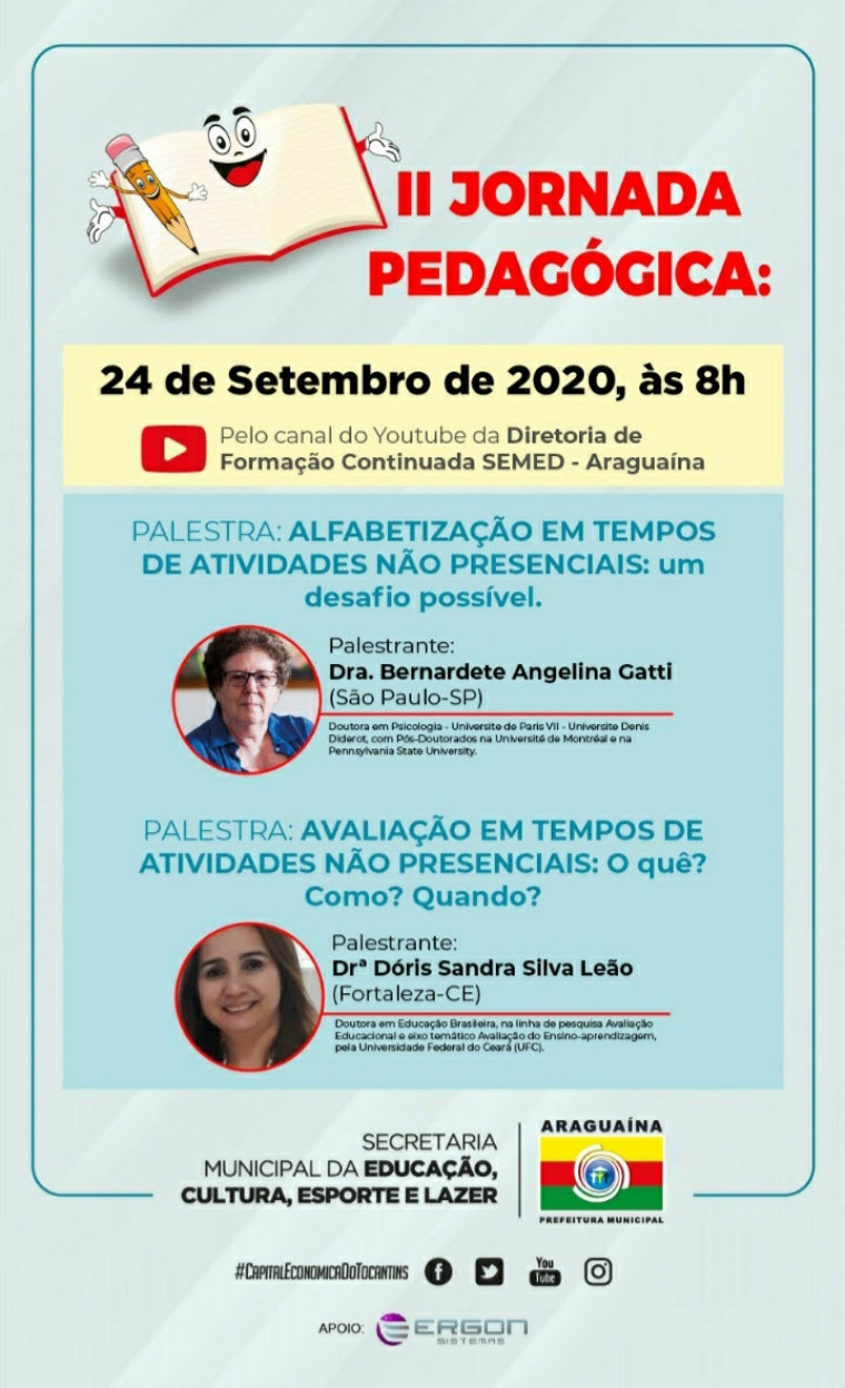 Jornada propõe uma reflexão sobre a prática pedagógica no ensino fundamental em tempos de pandemia