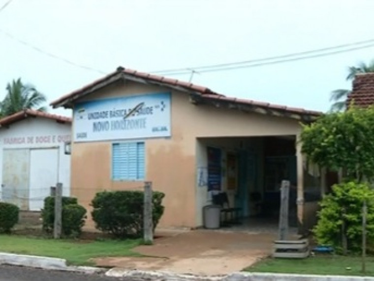 Casa alugada como UBS no Distrito de Novo Horizonte