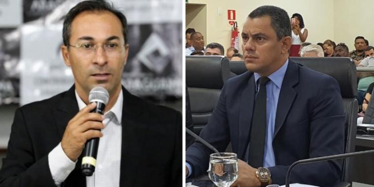 Wagner Rodrigues (esq.) e Terciliano Gomes