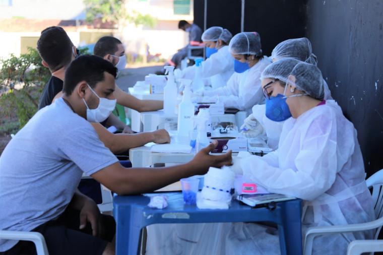 Foram realizados testes rápidos para covid-19 em todos os candidatos, aferindo 29 candidatos positivo para a doença