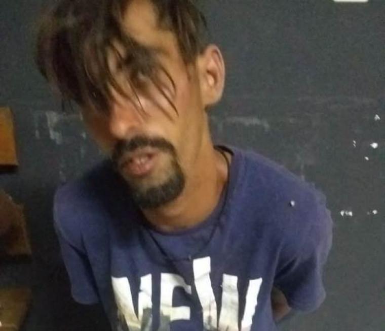 Suspeito preso