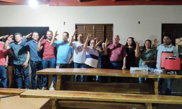 Reunião que selou a aliança entre Vinícius Donnover e Manoel Natalino