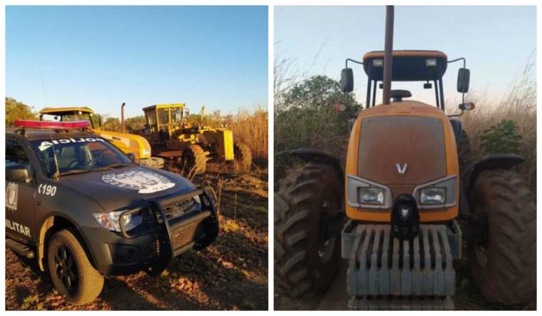 O maquinário foi entregue ao engenheiro encarregado das obras na TO-347 em Luzimangues