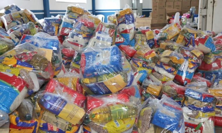 Famílias receberão cestas básicas