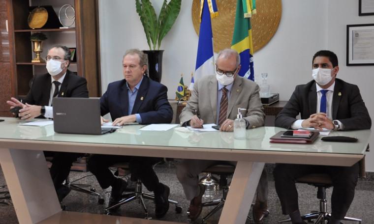 Videoconferência com presidente Bolsonaro