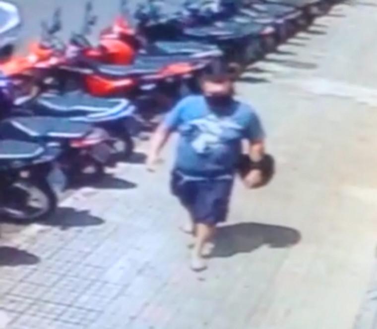O homem ficou conhecido como o 'Gordinho do Crime'