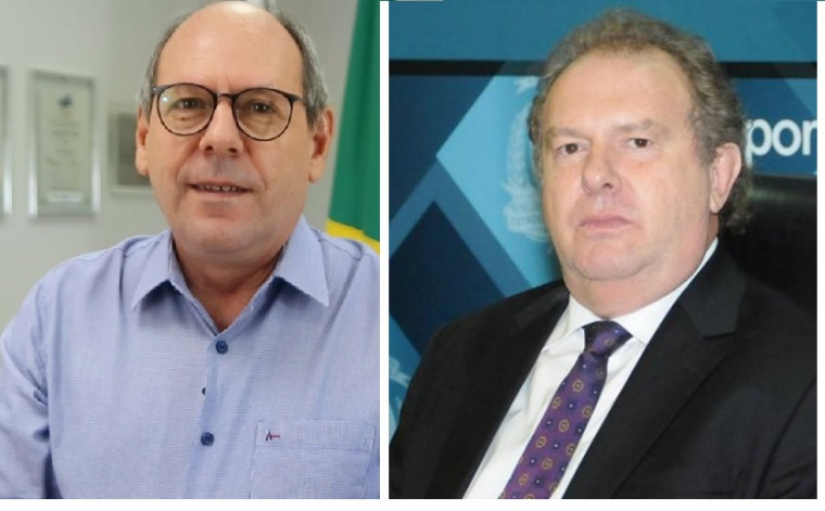 Prefeito Ronaldo Dimas (Podemos) e governador Mauro Carlesse (DEM)