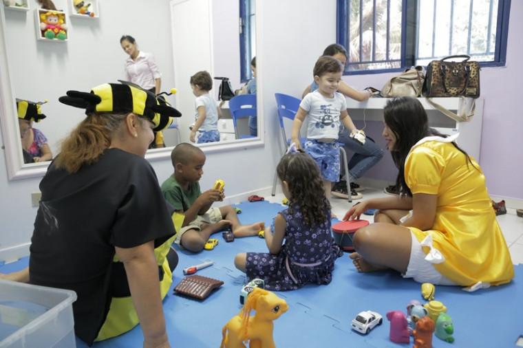 Crianças na clínica