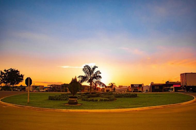 Pôr do sol em Guaraí