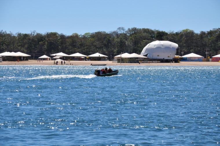 Praia da Tartaruga está entre as com maior fluxo turístico no rio Tocantins