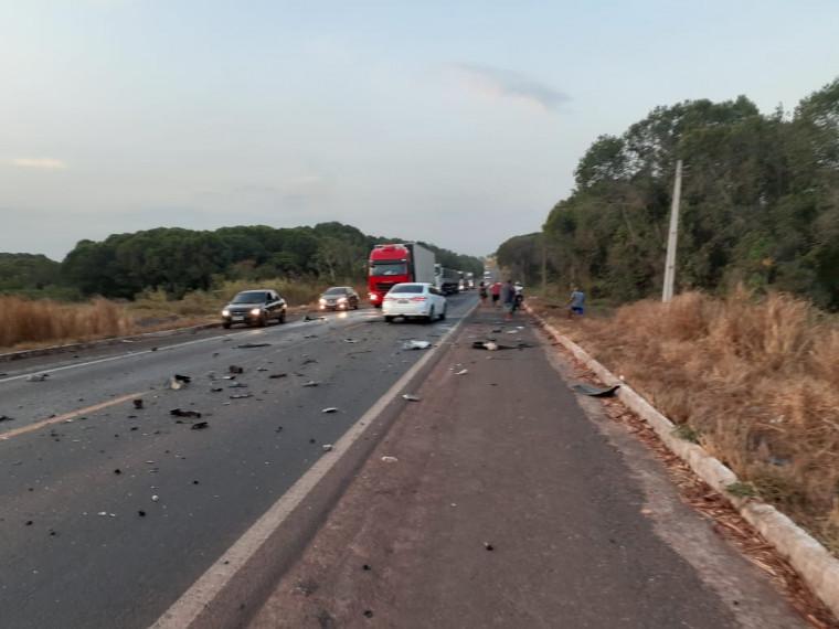 Acidente ocorreu nas proximidades do Bairro de Fátima