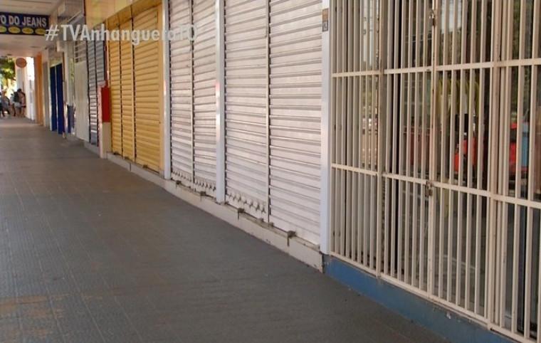 Comércio de Palmas está fechado há dois meses