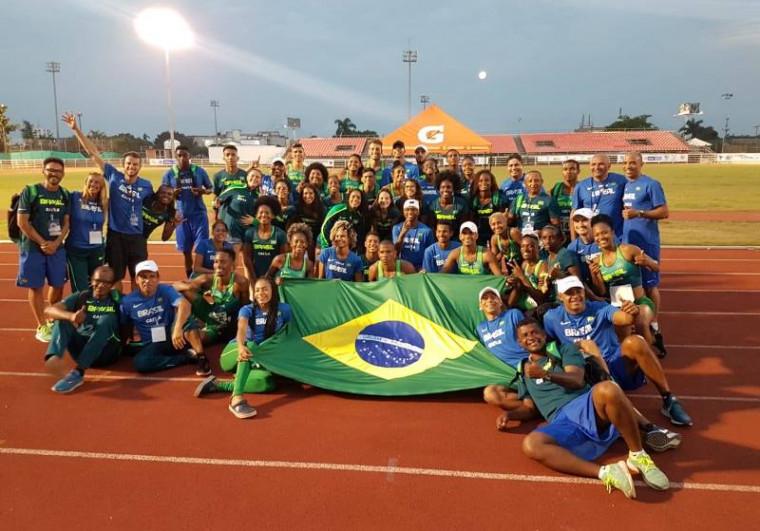 O Brasil ficou em 1º lugar no Campeonato Sul-Americano com 40 medalhas