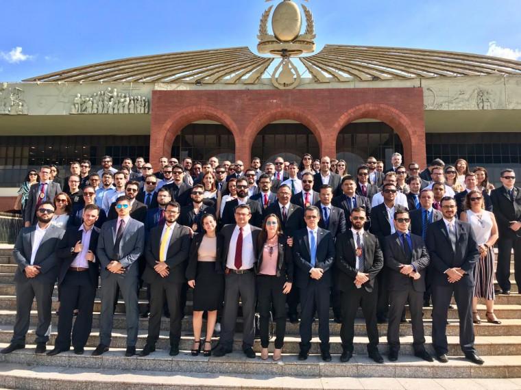 Delegados no Palácio Araguaia