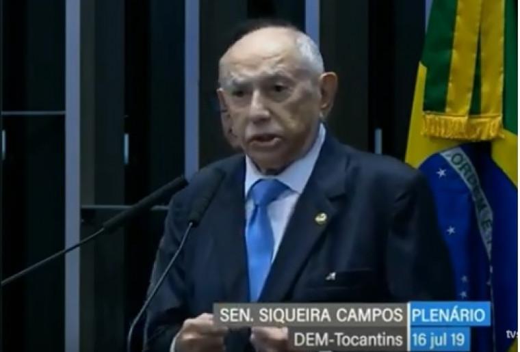 Siqueira Campos em discurso de posse no Senado Federal