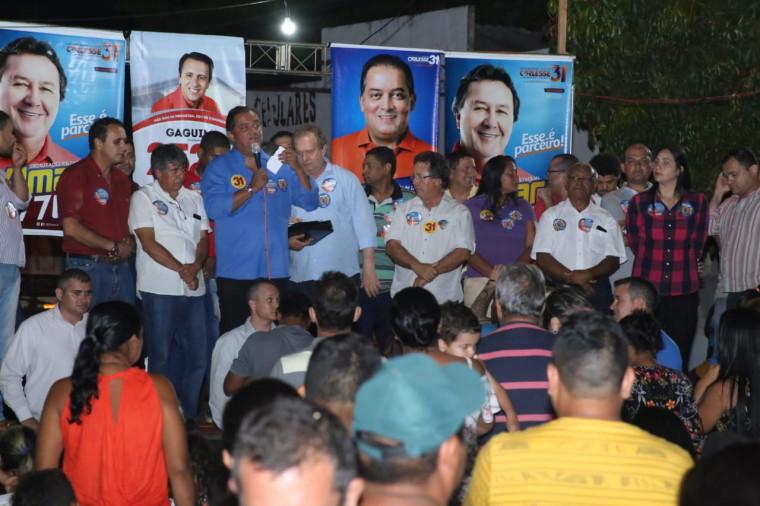 Eduardo Gomes revelou a informação em comício na região