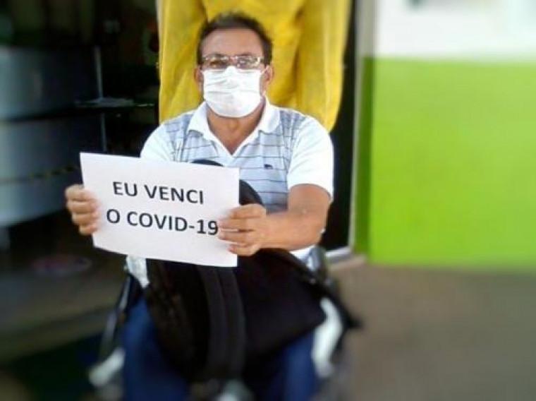 Luiz de Souza Alves tem 58 anos e venceu a covid-19