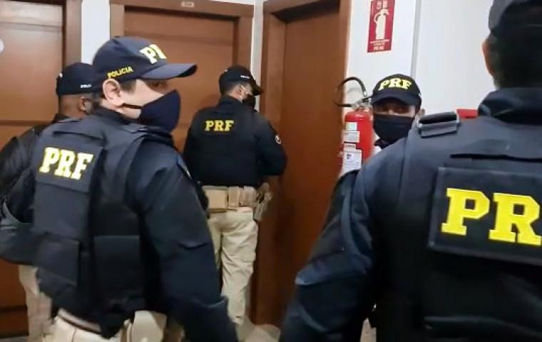 PRF cumpre mandados de busca e apreensão em Palmas