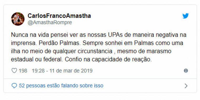 Amastha já criticou a atual prefeita em outras ocasiões