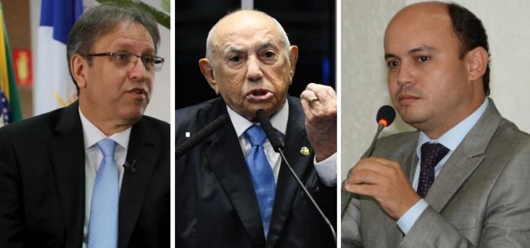 Marcelo Miranda (esq.), Siqueira (centro) e Sandoval