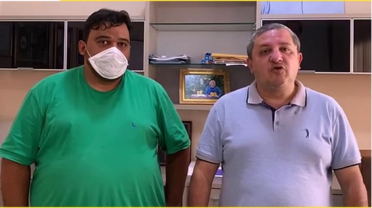 Pré-candidato Jardel Rocha e deputado estadual Jair Farias