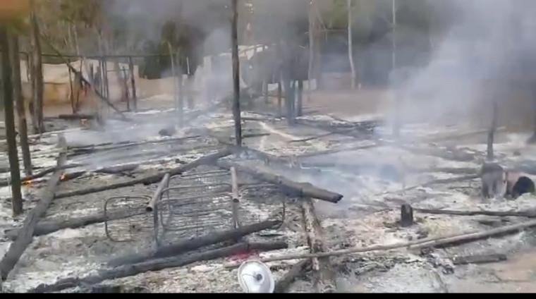 Assentados suspeitam de incêndio criminoso