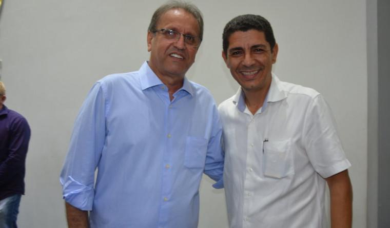 Presidentes estadual e metropolitano do MDB, Marcelo Miranda e deputado Valdemar Júnior